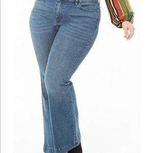 Forever 21+ High Rise Slim Flare Jeans